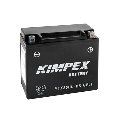 Kimpex Battery Maintenance Free AGM High Performance YTX20HL-BS(GEL)  Part# HTX20H(L)-BS(GEL)