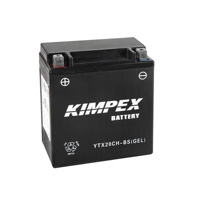 Kimpex Battery Maintenance Free AGM High Performance YTX20CH-BS(GEL)  Part# HTX20CH-BS(GEL)