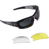 BOBSTER RALLY CONVERTIBLE INTERCHANGEABLE LENSES SMOKED YELLOW CLEAR BRAL001
