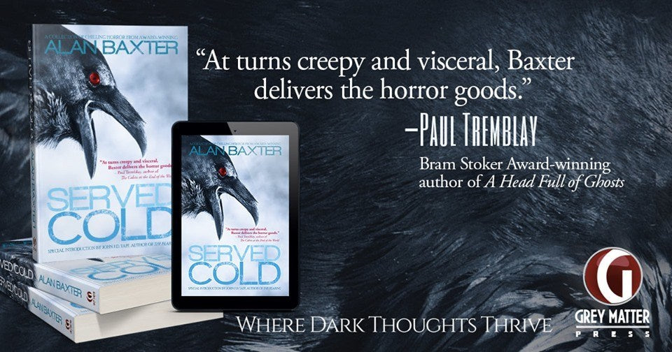 BOOK REVIEW! Night Worms Book Party: SERVED COLD by Alan Baxter