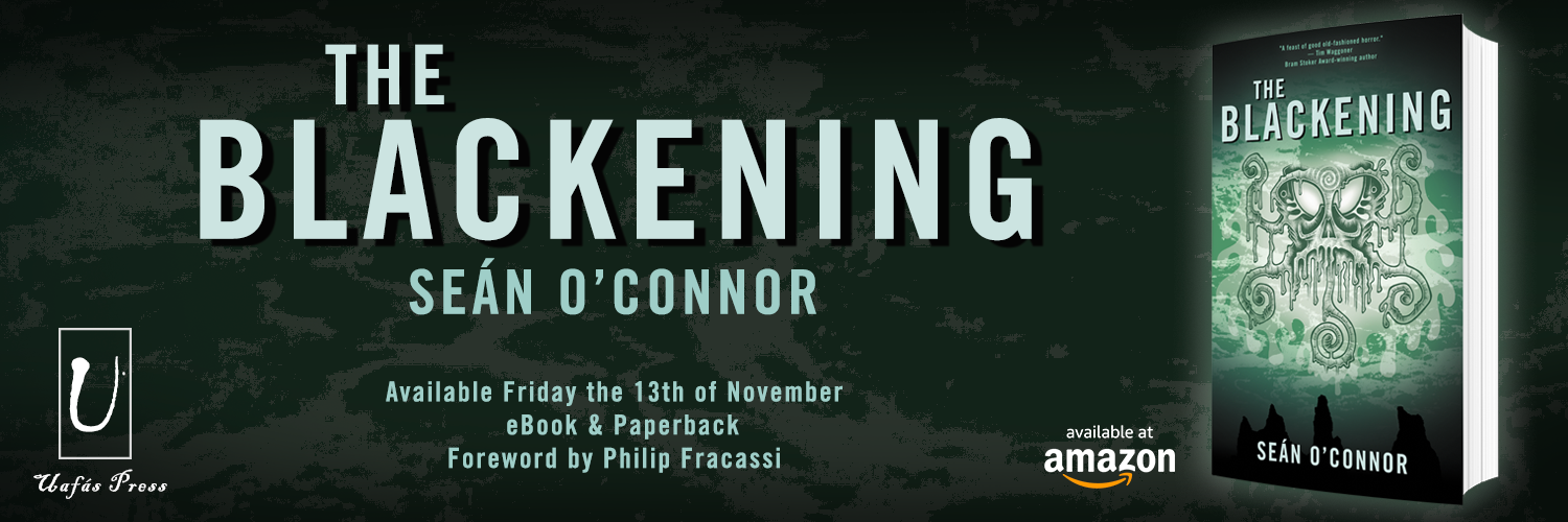 Cover Reveal: THE BLACKENING by Seán O'Connor