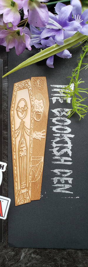 Dracula inspired wooden bookmark