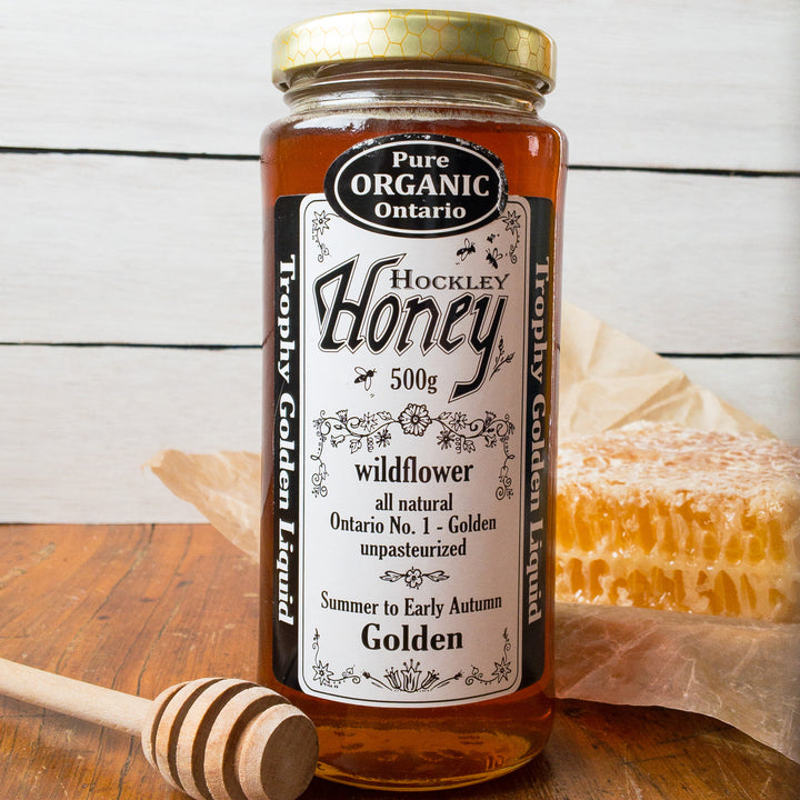 Hockley Organic Honey Wildflower Golden 500g