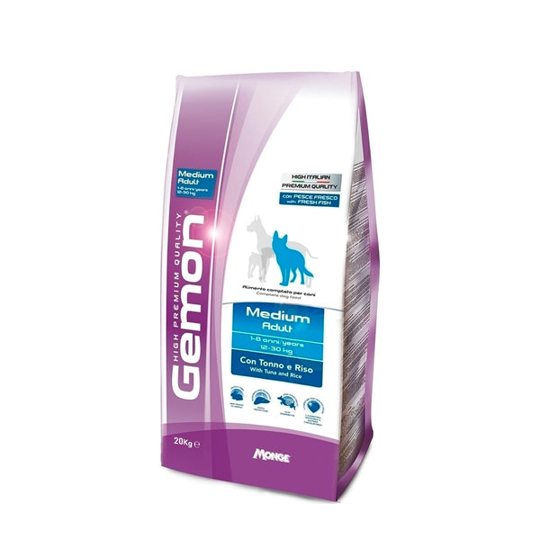Gemon Medium Adult Ton si Orez High Premium 20kg - Hrana Animale
