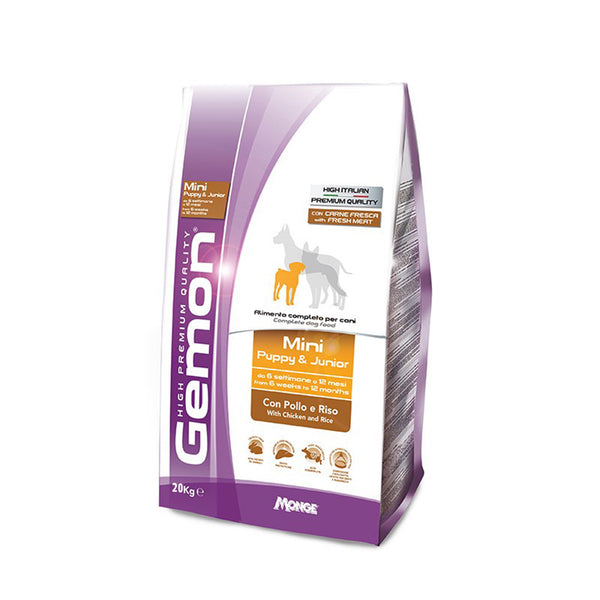Gemon Mini Puppy & Junior High Premium 20 kg - Hrana Animale