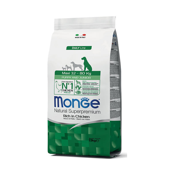 Monge Maxi Puppy & Junior Superpremium 15 kg - Hrana Animale