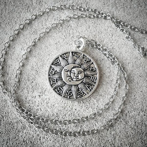 Luna Sol Zodiac Medallion Necklace