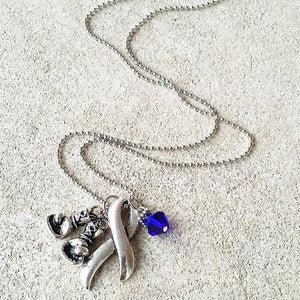 Boxing Ribbon Crystal Necklace