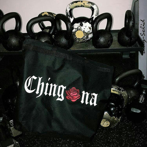 Chingona Rosa Zipper Tote