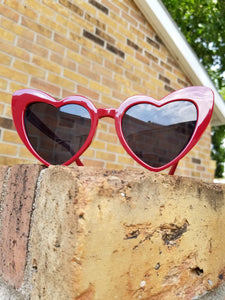 Dark Red CatEye Corazon Sunglasses