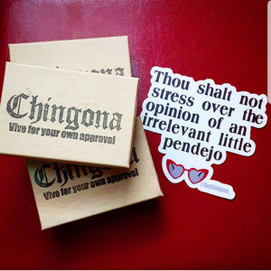 Thou shalt not stress Sticker