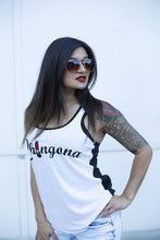 Load image into Gallery viewer, Chingona LipStick white & black Tank
