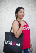 Load image into Gallery viewer, Chingona Rosa Zipper Tote