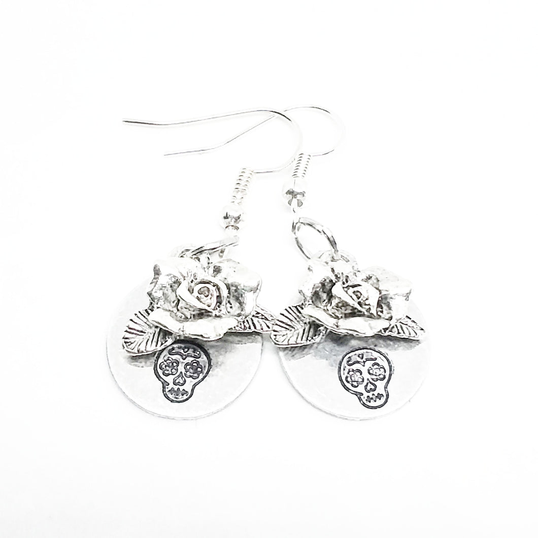 Sugar Skull Rosa Earrings