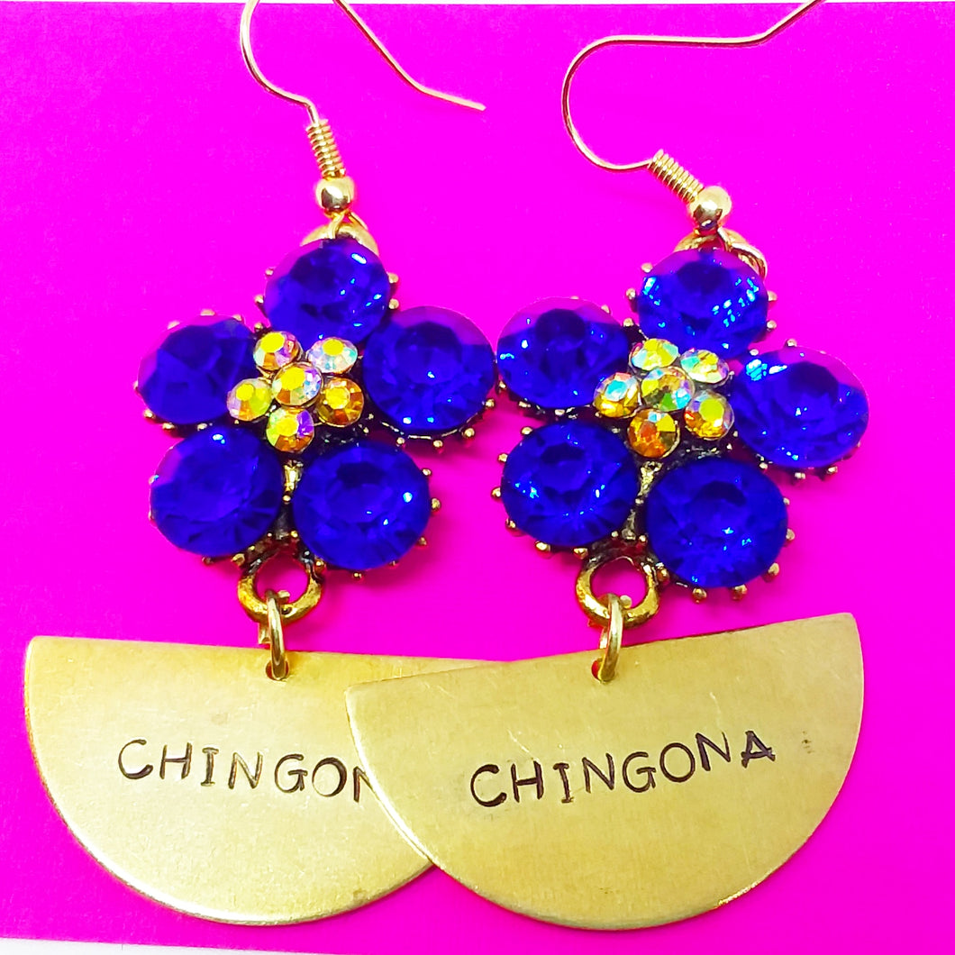Half Moon Chingona Earrings