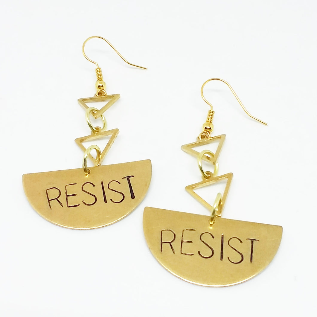 Resist Triangle earrings