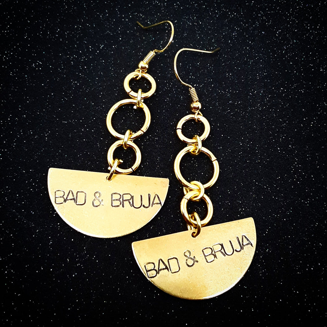 Bad & Bruja quarter moon Earrings
