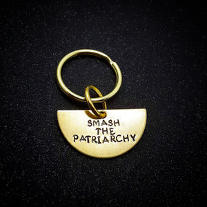 Smash the Patriarchy half moon keychain