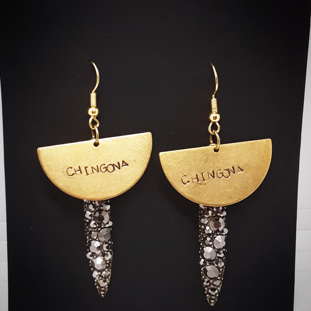 Half Moon Chingona Mala Bella Earrings