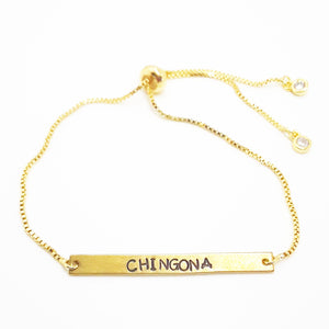 Chingona gold chain Bracelet