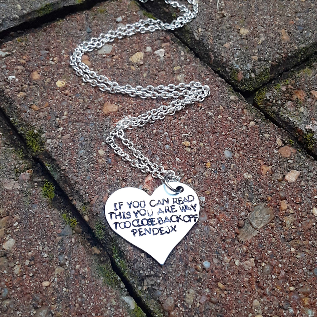 If you can read this.. Necklace