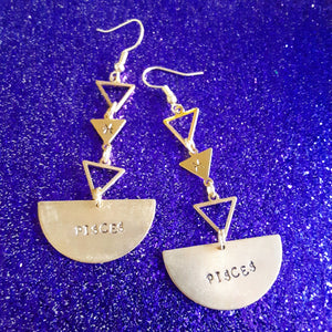 Half Moon Horoscope sign Earrings