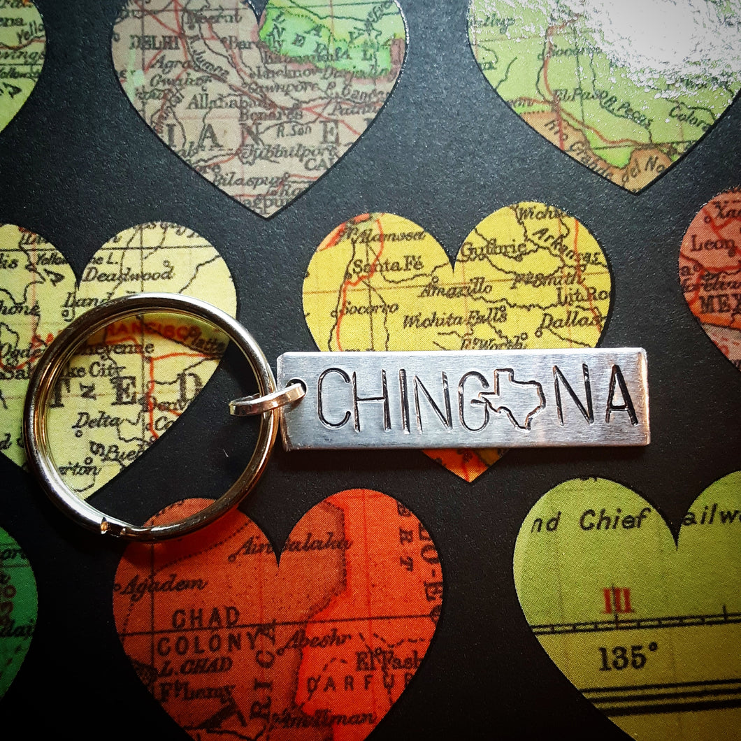 Texas Chingona Bar KeyChain