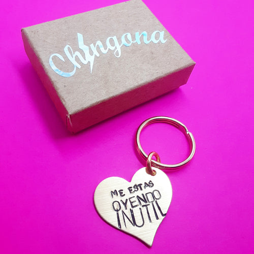 Me estas Oyendo Inutil Key Chain