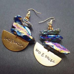 Bad & Bruja half moon multicolor luster Earrings