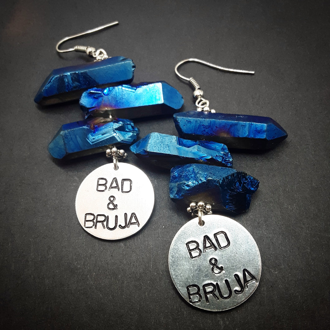 Bad & Bruja Sapphire Luster Earrings