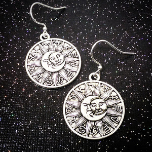 Luna Sol Zodiac Medallion Earrings