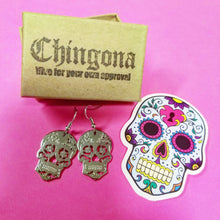 Load image into Gallery viewer, Sugar Skull Earrings