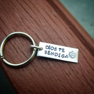 Dios te Bendiga sacred heart Key Chain