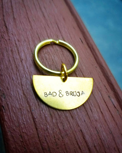Bad & Bruja Half moon key chain