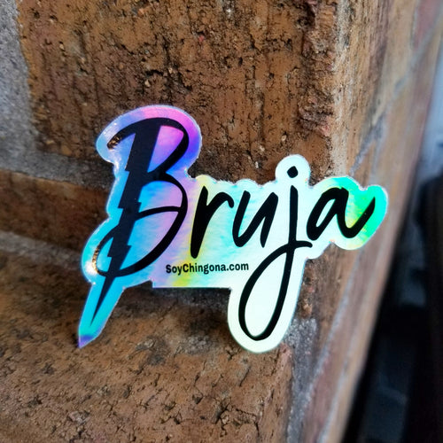 Bruja holographic sticker