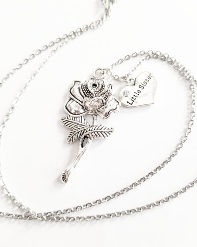 La Rosa Necklace with an additional charm