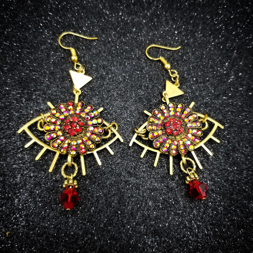 Ojo Red Eyes Earrings