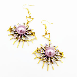 Lavender ojo earrings
