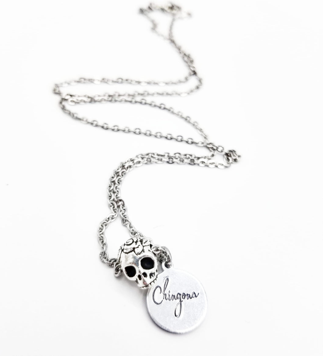 Chingona SugarSkull Necklace