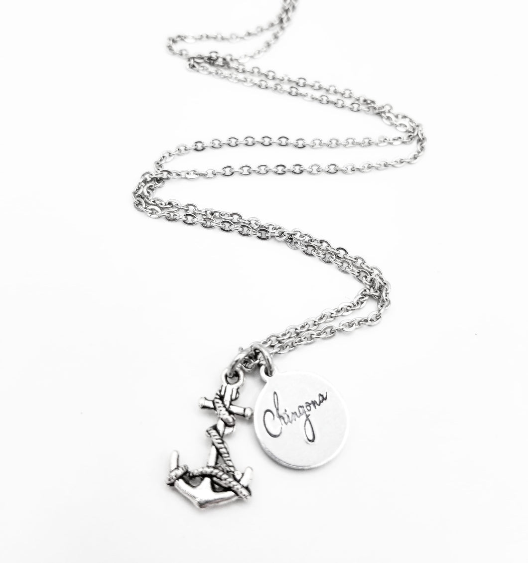 Anchor Chingona Necklace