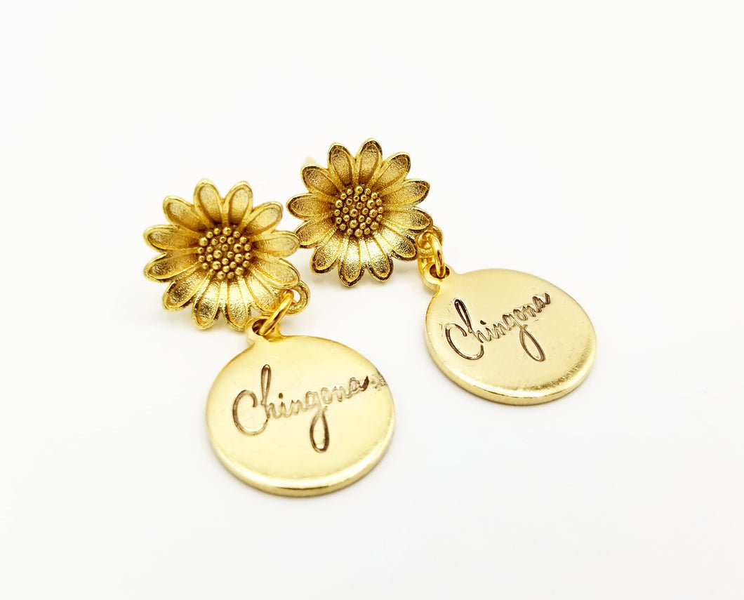 Sunflower Chingona Earrings