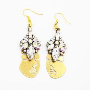 Iridescent Rostro Crown Earrings