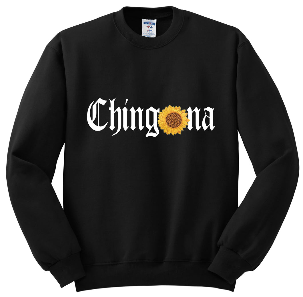 Chingona Sunflower Sweatshirt