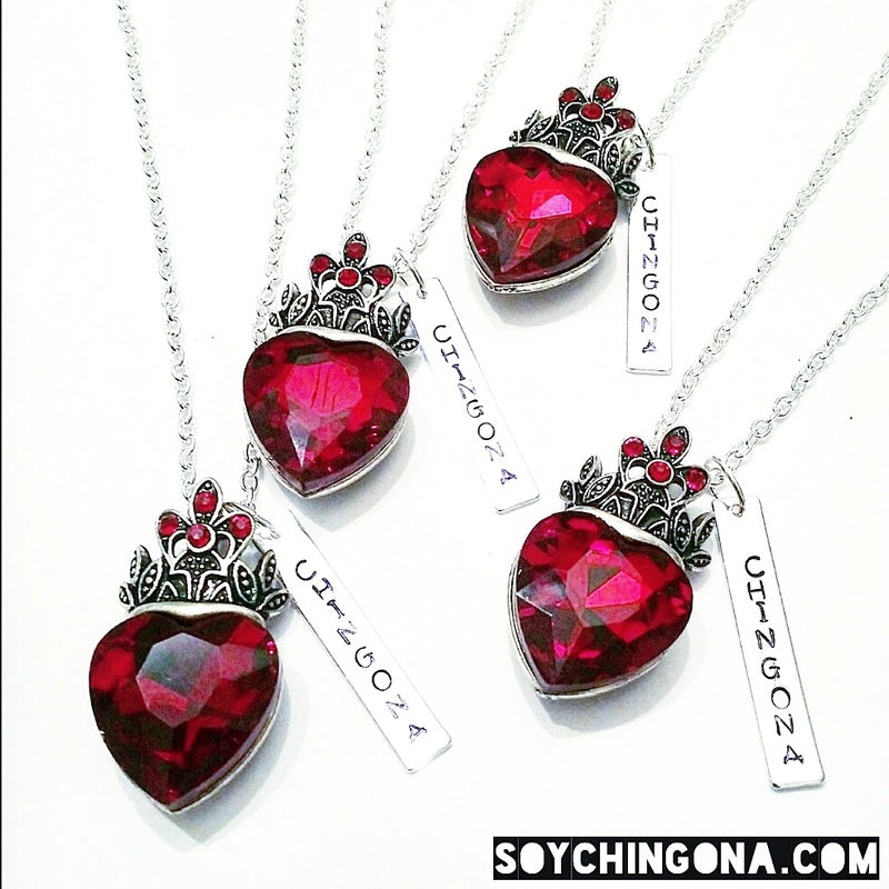 Chingona Queen of Hearts Necklace