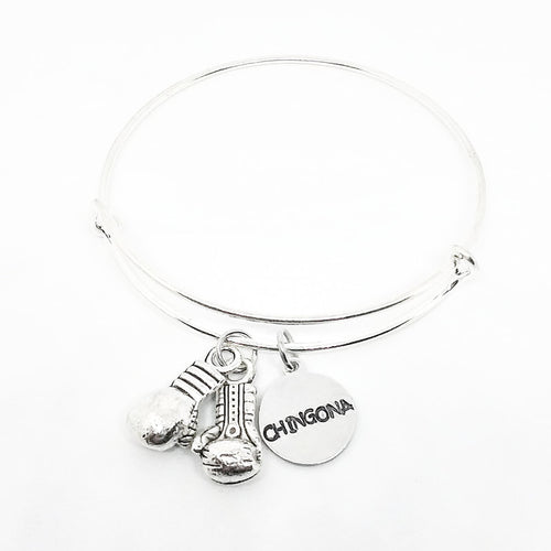 Boxing Gloves Bangle with custom tag
