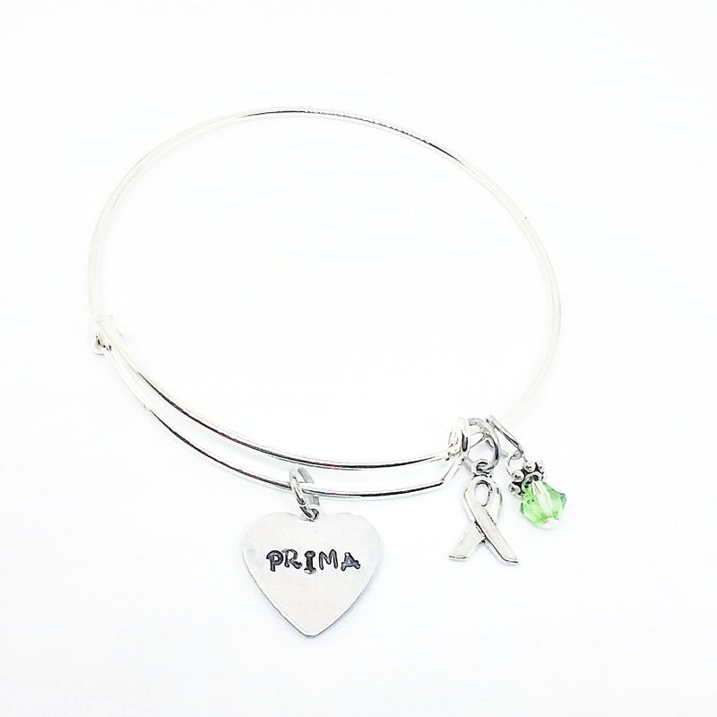 Ribbon Crystal Bangle with Custom Tag