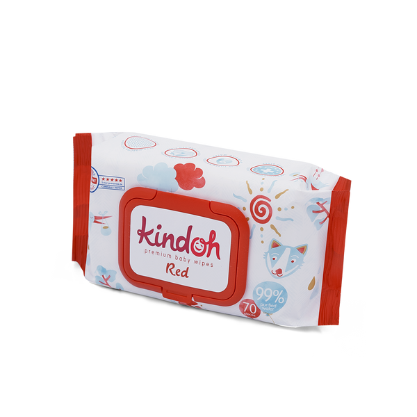 Kindoh Red Feuchttücher - Regular