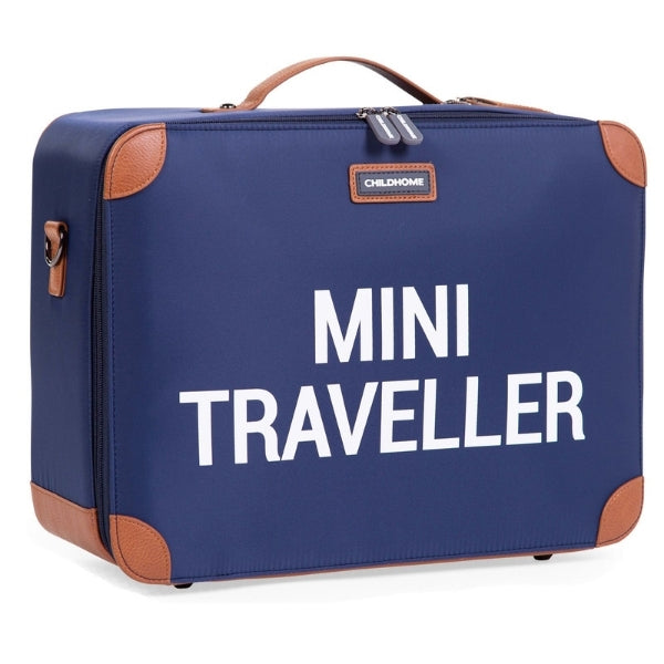 Mini Traveller Kinderkoffer | Navy Wit