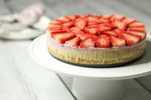 Strawberry Cheese Cake recipe with Waimarino Organic Virgin Coconut Oil