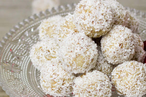 Creamed Coconut Powerballs recipe with Waimarino Organic Virgin Coconut Oil